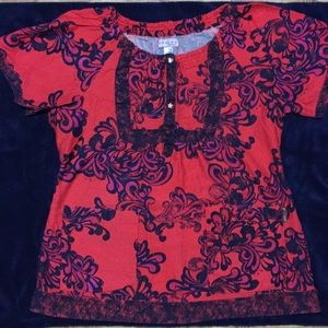 Koi Ladies Scrub Top by Kathy Peterson